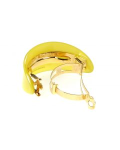 French Ponytail Holder Yellow Pantone Trend Color   Handmade in France