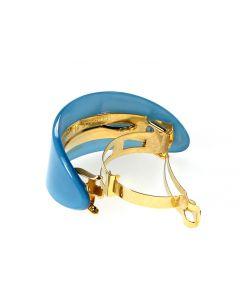 French Ponytail Holder Blue Pantone Trend Color | Handmade in France