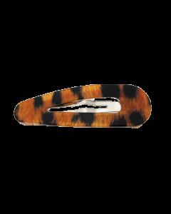 Orange Leopard spænde - 5.3 cm